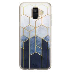 Telefoonhoesje Store Samsung Galaxy A6 2018 siliconen hoesje - Geometrisch fade art