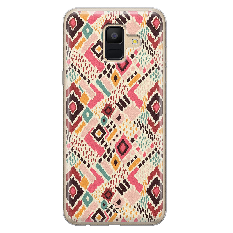 Telefoonhoesje Store Samsung Galaxy A6 2018 siliconen hoesje - Boho vibes