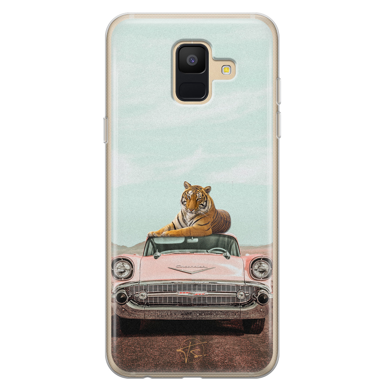 Telefoonhoesje Store Samsung Galaxy A6 2018 siliconen hoesje - Chill tijger
