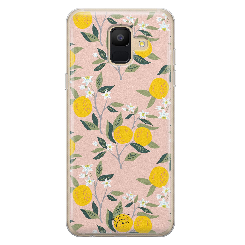 Telefoonhoesje Store Samsung Galaxy A6 2018 siliconen hoesje - Citroenen