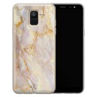 ELLECHIQ Samsung Galaxy A6 2018 siliconen hoesje - Stay Golden Marble