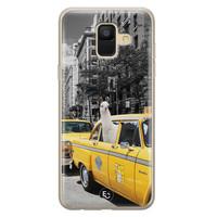 ELLECHIQ Samsung Galaxy A6 2018 siliconen hoesje - Lama in taxi