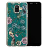 Telefoonhoesje Store Samsung Galaxy A6 2018 siliconen hoesje - Bloomy birds