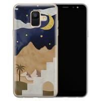 Leuke Telefoonhoesjes Samsung Galaxy A6 2018 siliconen hoesje - Desert night