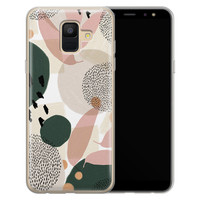 Leuke Telefoonhoesjes Samsung Galaxy A6 2018 siliconen hoesje - Abstract print