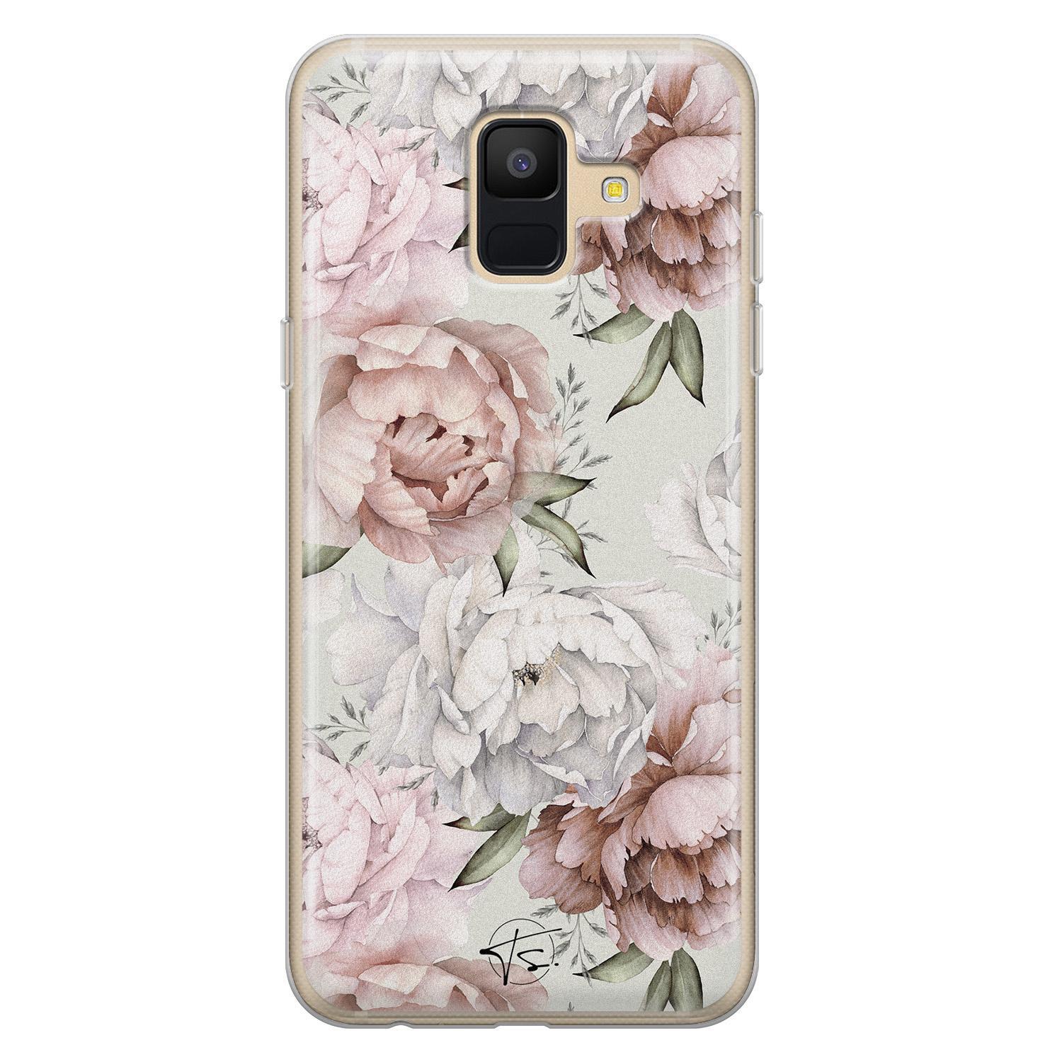 Telefoonhoesje Store Samsung Galaxy A6 2018 siliconen hoesje - Classy flowers