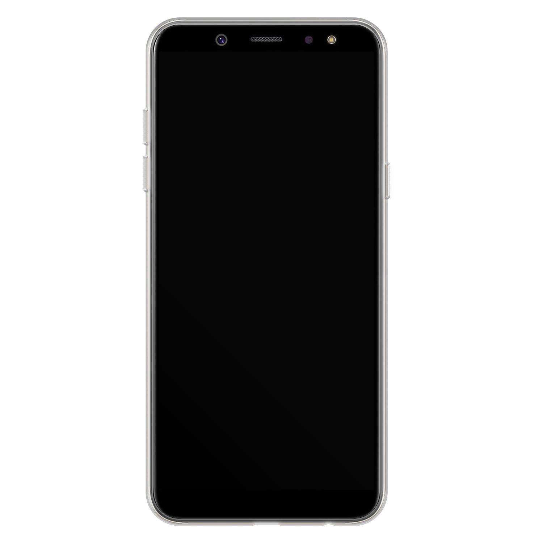 Telefoonhoesje Store Samsung Galaxy A6 2018 siliconen hoesje - Mint bloemen