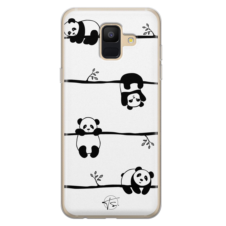 Telefoonhoesje Store Samsung Galaxy A6 2018 siliconen hoesje - Panda