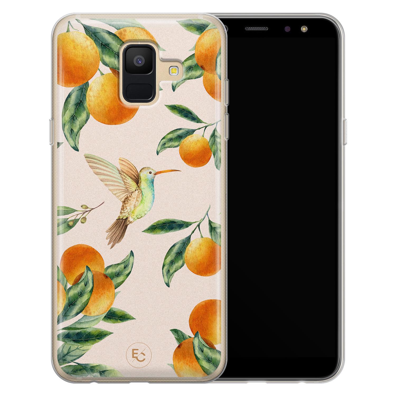 ELLECHIQ Samsung Galaxy A6 2018 siliconen hoesje - Tropical Lemonade