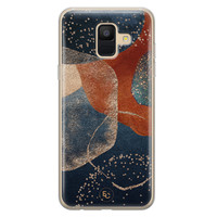 ELLECHIQ Samsung Galaxy A6 2018 siliconen hoesje - Abstract Terracotta