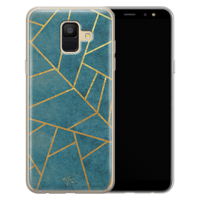 Telefoonhoesje Store Samsung Galaxy A6 2018 siliconen hoesje - Abstract blauw