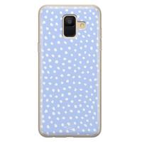 Telefoonhoesje Store Samsung Galaxy A6 2018 siliconen hoesje - Purple dots