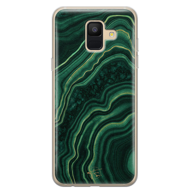 Telefoonhoesje Store Samsung Galaxy A6 2018 siliconen hoesje - Agate groen