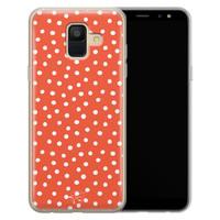 Telefoonhoesje Store Samsung Galaxy A6 2018 siliconen hoesje - Orange dots
