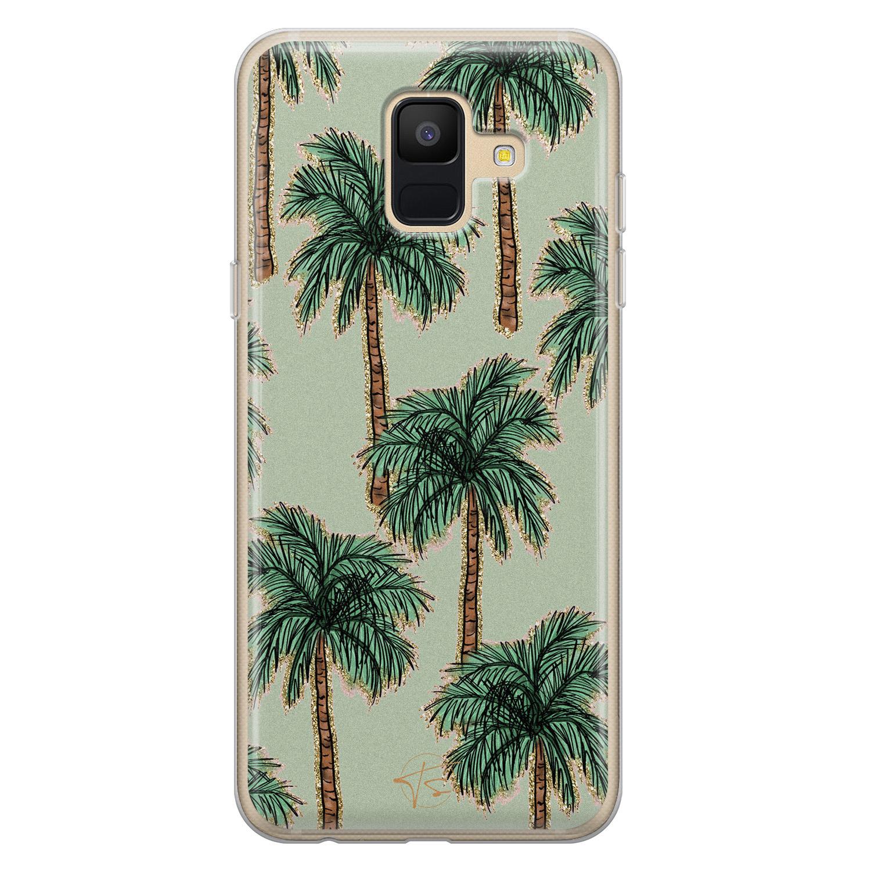 Telefoonhoesje Store Samsung Galaxy A6 2018 siliconen hoesje - Palmbomen