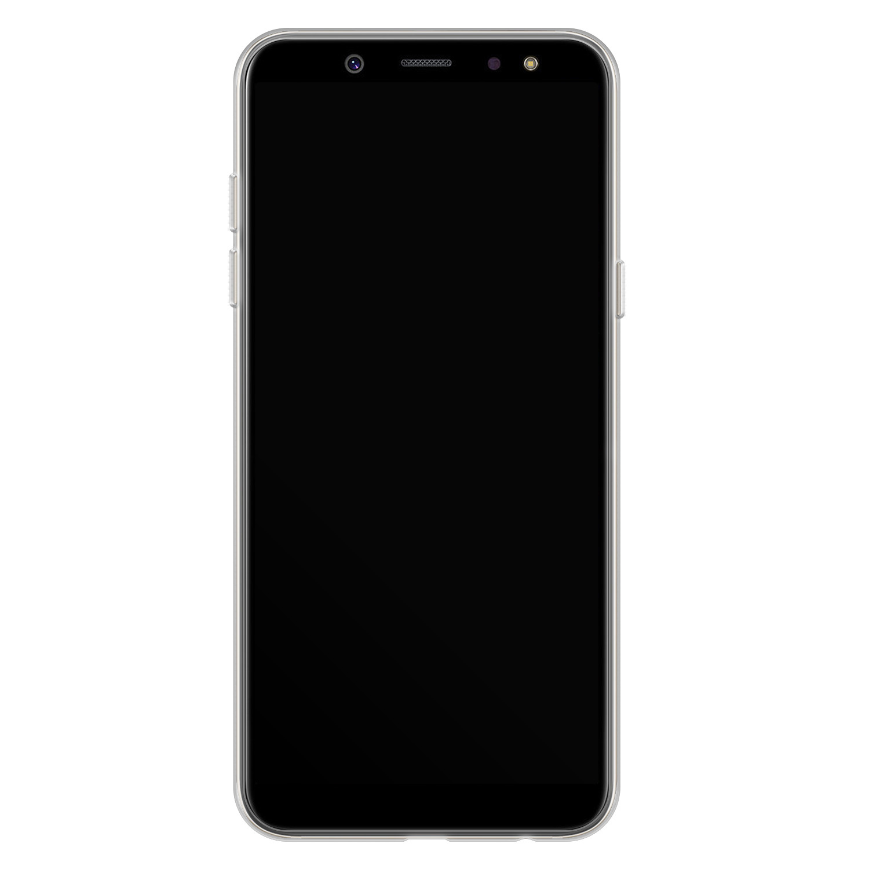 Telefoonhoesje Store Samsung Galaxy A6 2018 siliconen hoesje - Abstract peach