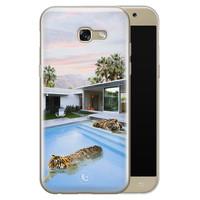 ELLECHIQ Samsung Galaxy A5 2017 siliconen hoesje - Tiger pool