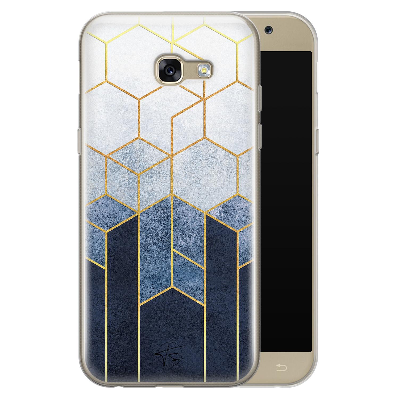 Telefoonhoesje Store Samsung Galaxy A5 2017 siliconen hoesje - Geometrisch fade art