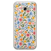 Telefoonhoesje Store Samsung Galaxy A5 2017 siliconen hoesje - Romantische bloemen