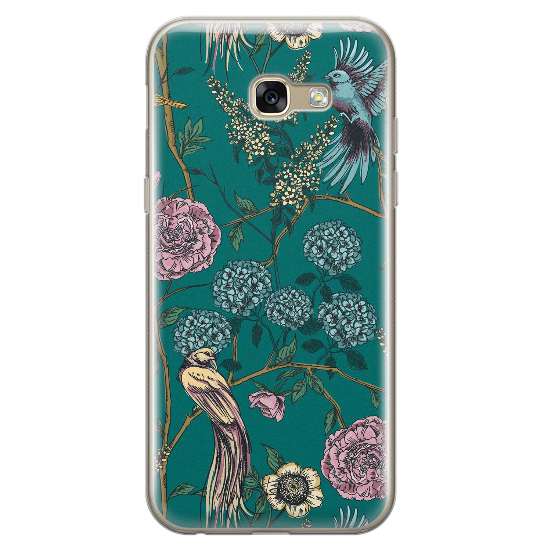 Telefoonhoesje Store Samsung Galaxy A5 2017 siliconen hoesje - Bloomy birds