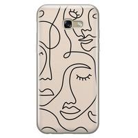 Leuke Telefoonhoesjes Samsung Galaxy A5 2017 siliconen hoesje - Abstract gezicht lijnen