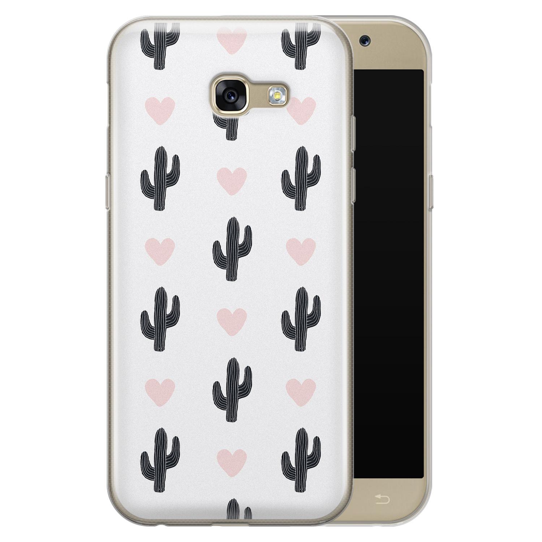Leuke Telefoonhoesjes Samsung Galaxy A5 2017 siliconen hoesje - Cactus love