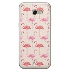 Telefoonhoesje Store Samsung Galaxy A5 2017 siliconen hoesje - Flamingo