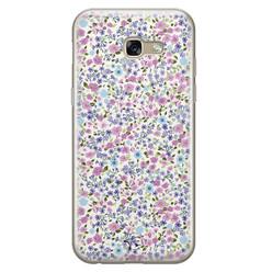 Telefoonhoesje Store Samsung Galaxy A5 2017 siliconen hoesje - Purple Garden
