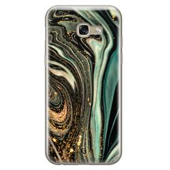 ELLECHIQ Samsung Galaxy A5 2017 siliconen hoesje - Marble Khaki Swirl