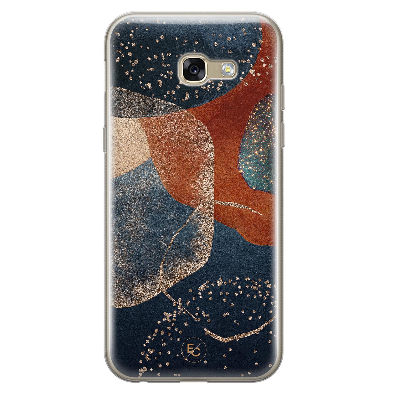ELLECHIQ Samsung Galaxy A5 2017 siliconen hoesje - Abstract Terracotta