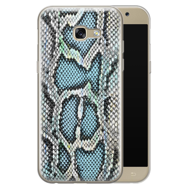 ELLECHIQ Samsung Galaxy A5 2017 siliconen hoesje - Baby Snake blue