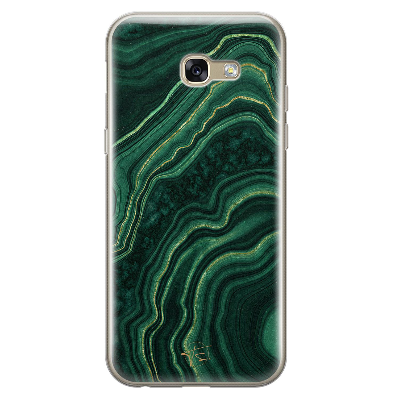 Telefoonhoesje Store Samsung Galaxy A5 2017 siliconen hoesje - Agate groen