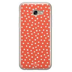 Telefoonhoesje Store Samsung Galaxy A5 2017 siliconen hoesje - Orange dots
