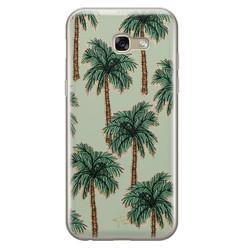 Telefoonhoesje Store Samsung Galaxy A5 2017 siliconen hoesje - Palmbomen
