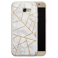 Telefoonhoesje Store Samsung Galaxy A5 2017 siliconen hoesje - Geometrisch marmer