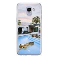 ELLECHIQ Samsung Galaxy J6 2018 siliconen hoesje - Tiger pool