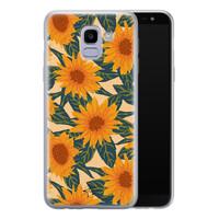 Telefoonhoesje Store Samsung Galaxy J6 2018 siliconen hoesje - Zonnebloemen