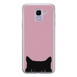 Telefoonhoesje Store Samsung Galaxy J6 2018 siliconen hoesje - Zwarte kat