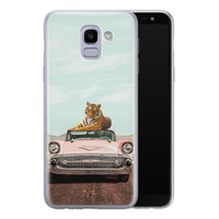 Telefoonhoesje Store Samsung Galaxy J6 2018 siliconen hoesje - Chill tijger