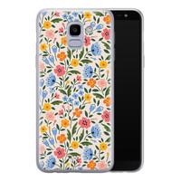 Telefoonhoesje Store Samsung Galaxy J6 2018 siliconen hoesje - Romantische bloemen
