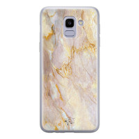 ELLECHIQ Samsung Galaxy J6 2018 siliconen hoesje - Stay Golden Marble
