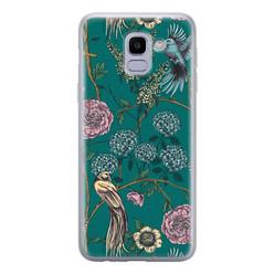 Telefoonhoesje Store Samsung Galaxy J6 2018 siliconen hoesje - Bloomy birds