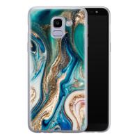Telefoonhoesje Store Samsung Galaxy J6 2018 siliconen hoesje - Magic marble