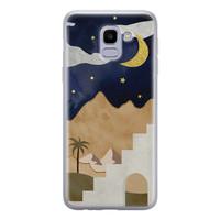 Leuke Telefoonhoesjes Samsung Galaxy J6 2018 siliconen hoesje - Desert night