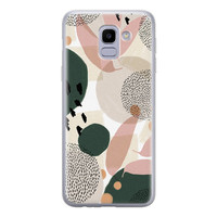 Leuke Telefoonhoesjes Samsung Galaxy J6 2018 siliconen hoesje - Abstract print