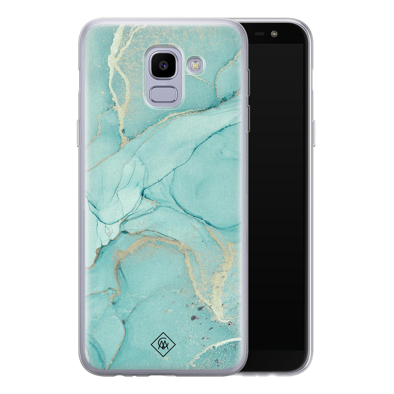 Casimoda Samsung Galaxy J6 2018 siliconen hoesje - Touch of mint