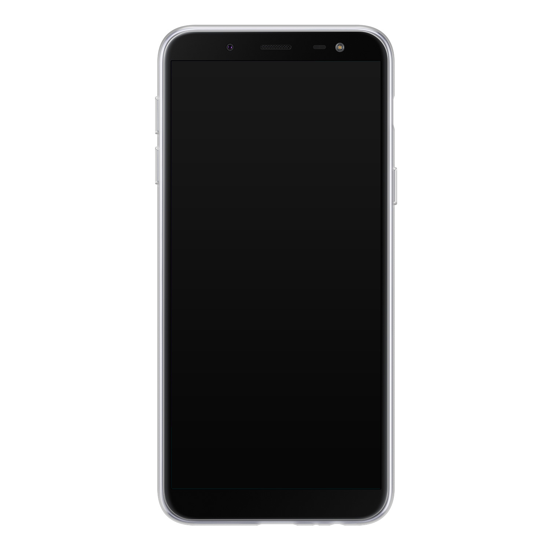 Leuke Telefoonhoesjes Samsung Galaxy J6 2018 siliconen hoesje - Abstract gezicht lijnen