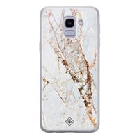 Casimoda Samsung Galaxy J6 2018 siliconen hoesje - Marmer goud