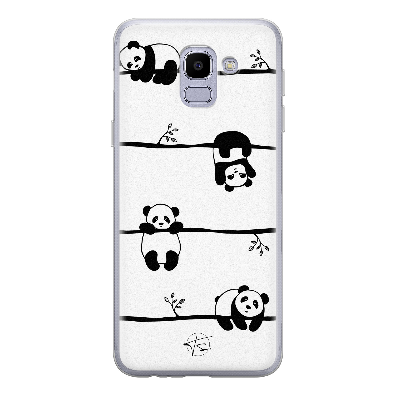 Telefoonhoesje Store Samsung Galaxy J6 2018 siliconen hoesje - Panda