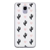 Leuke Telefoonhoesjes Samsung Galaxy J6 2018 siliconen hoesje - Cactus love